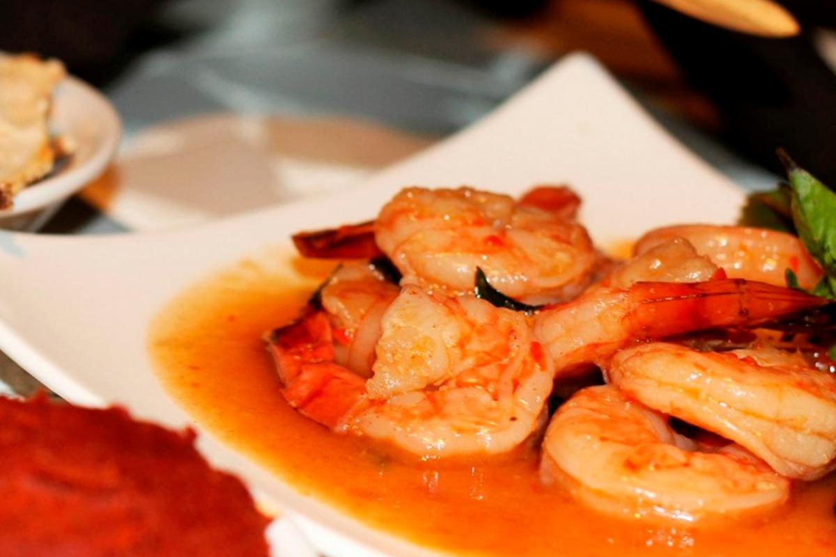 Crevettes basilic